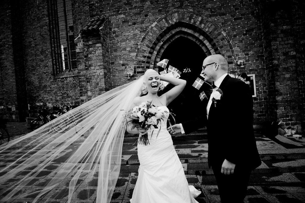 Bryllupsbilleder digitalt efterbehandlet