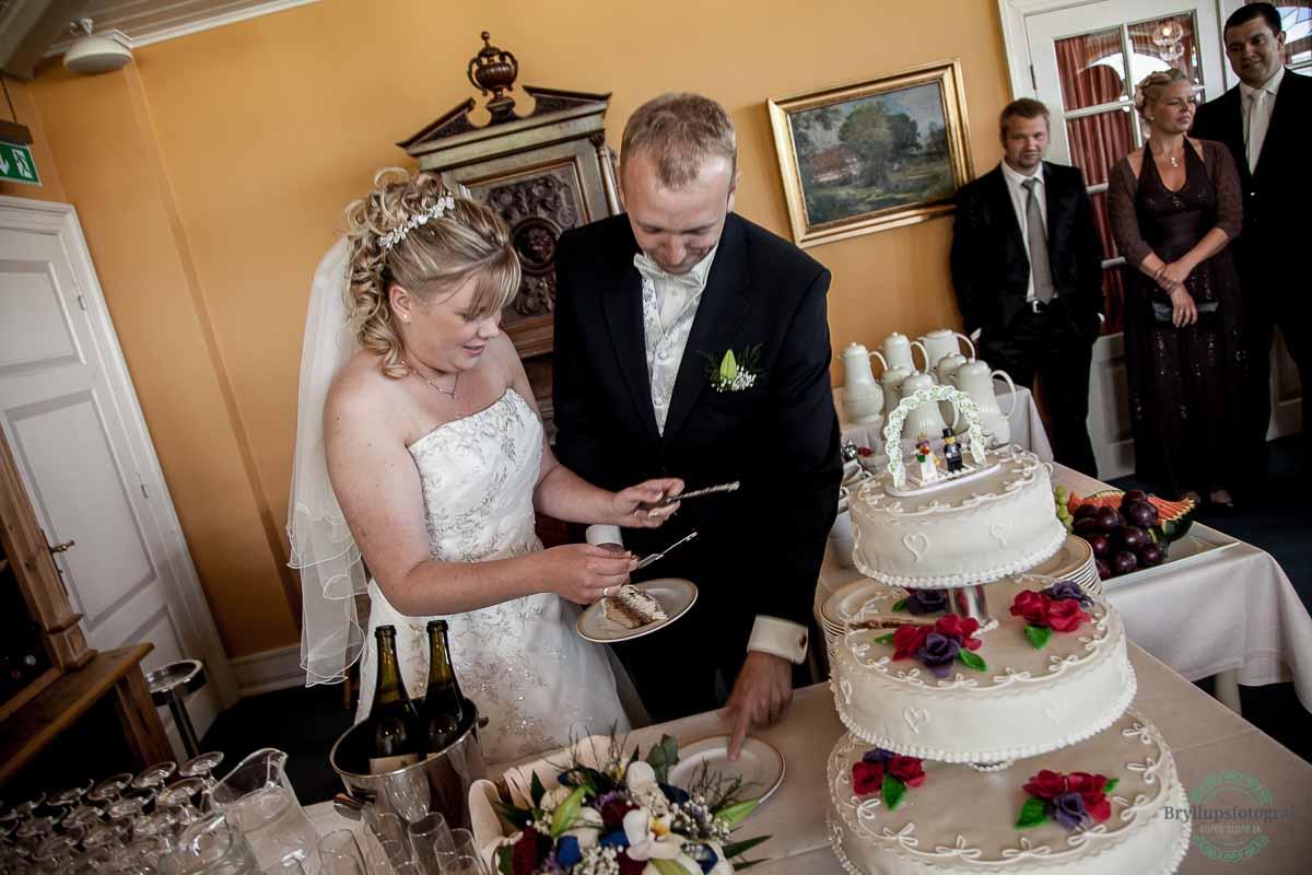 bryllupskage Ballebro Færgekro