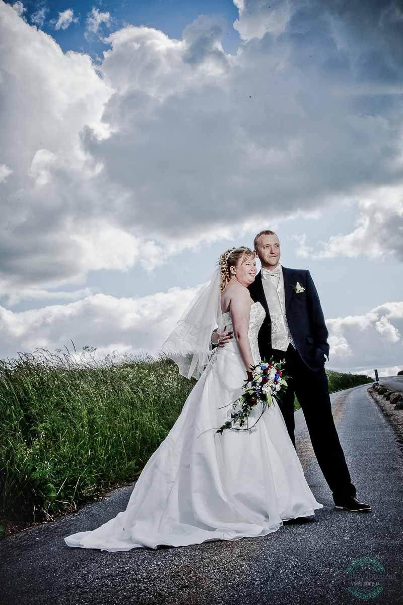 brudepar ved Ballebro Færgekro