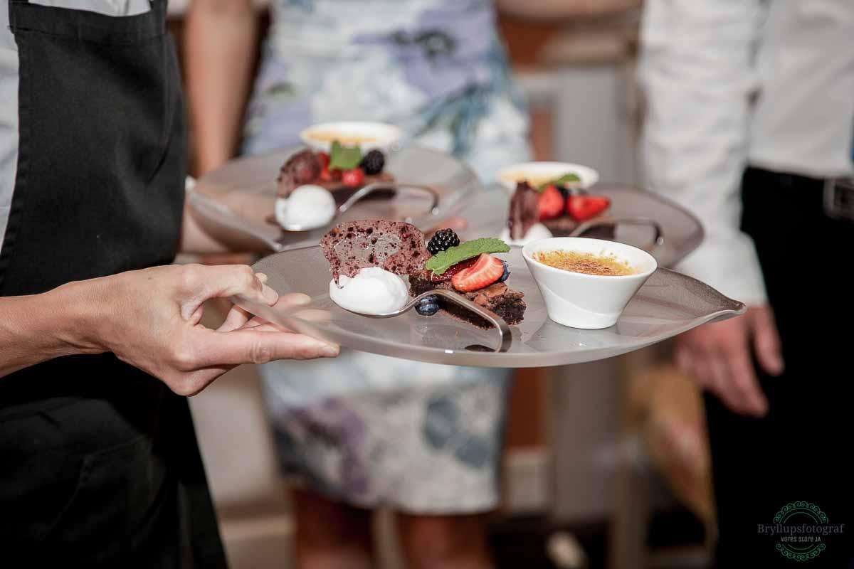 dessert bryllup Ballebro Færgekro