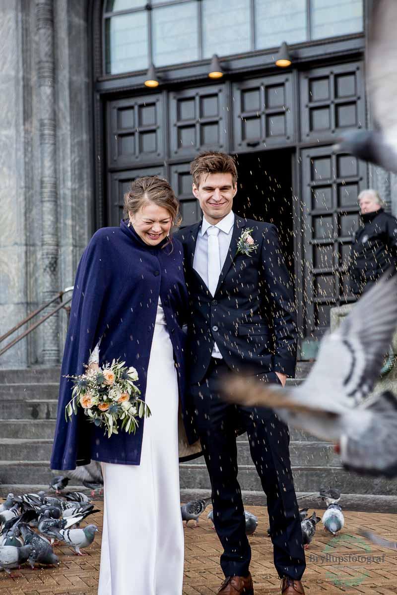 bryllup og riskast ved københavns rådhus