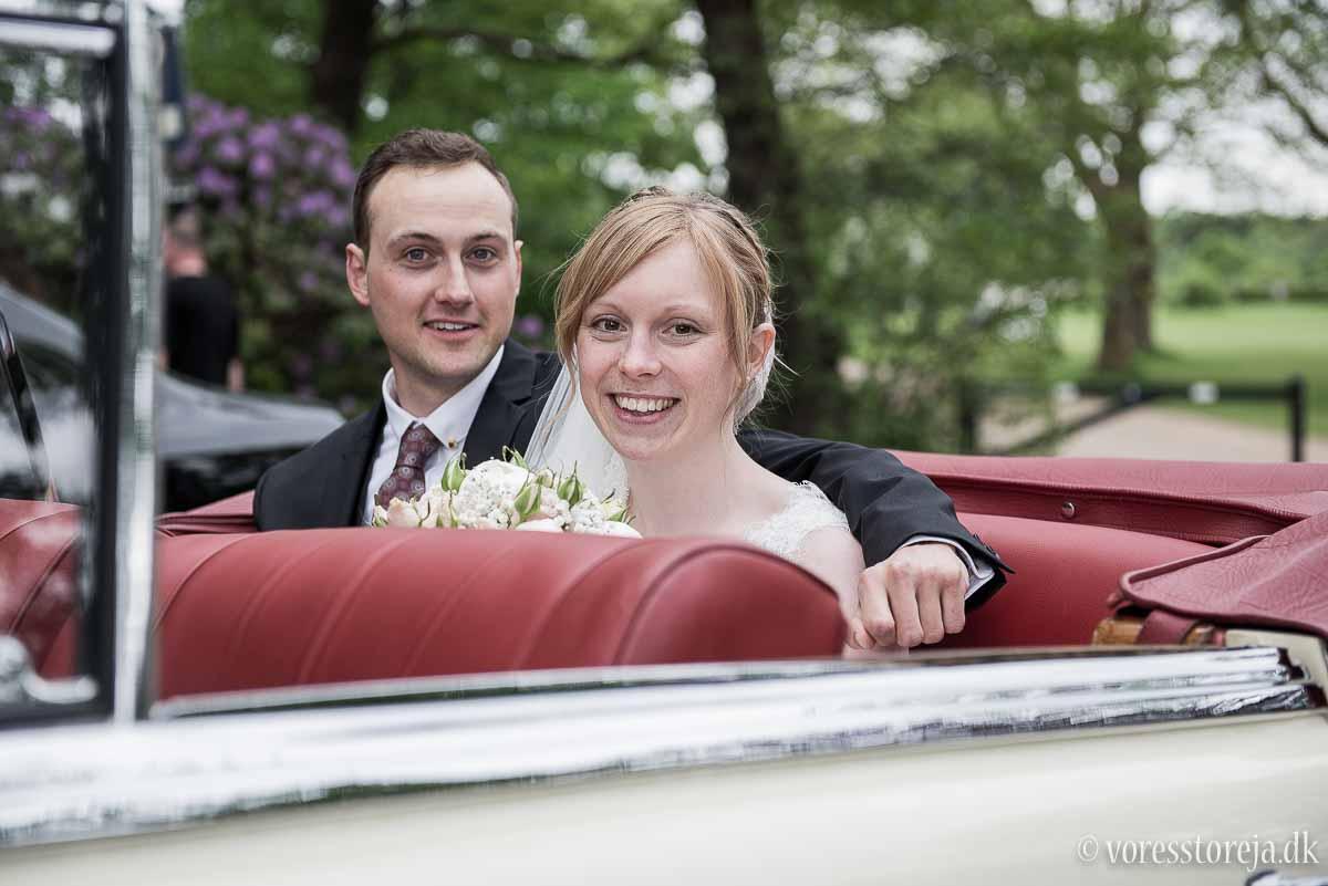 aarhus brudepar i bryllupstransport