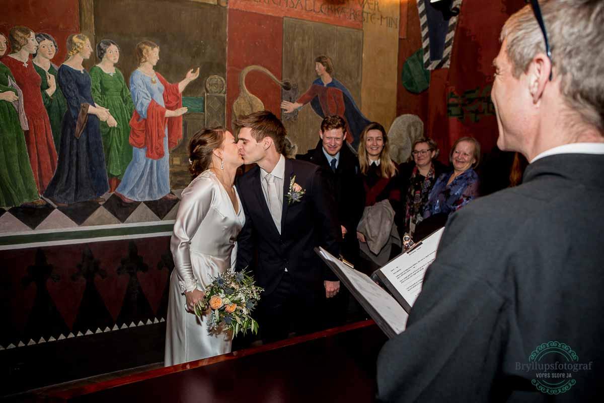 kys efter vielse på Københavns rådhus