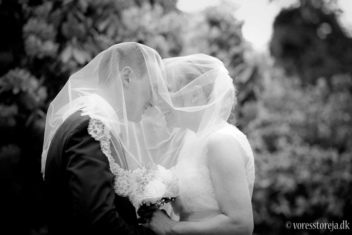 århus brudepar under slør