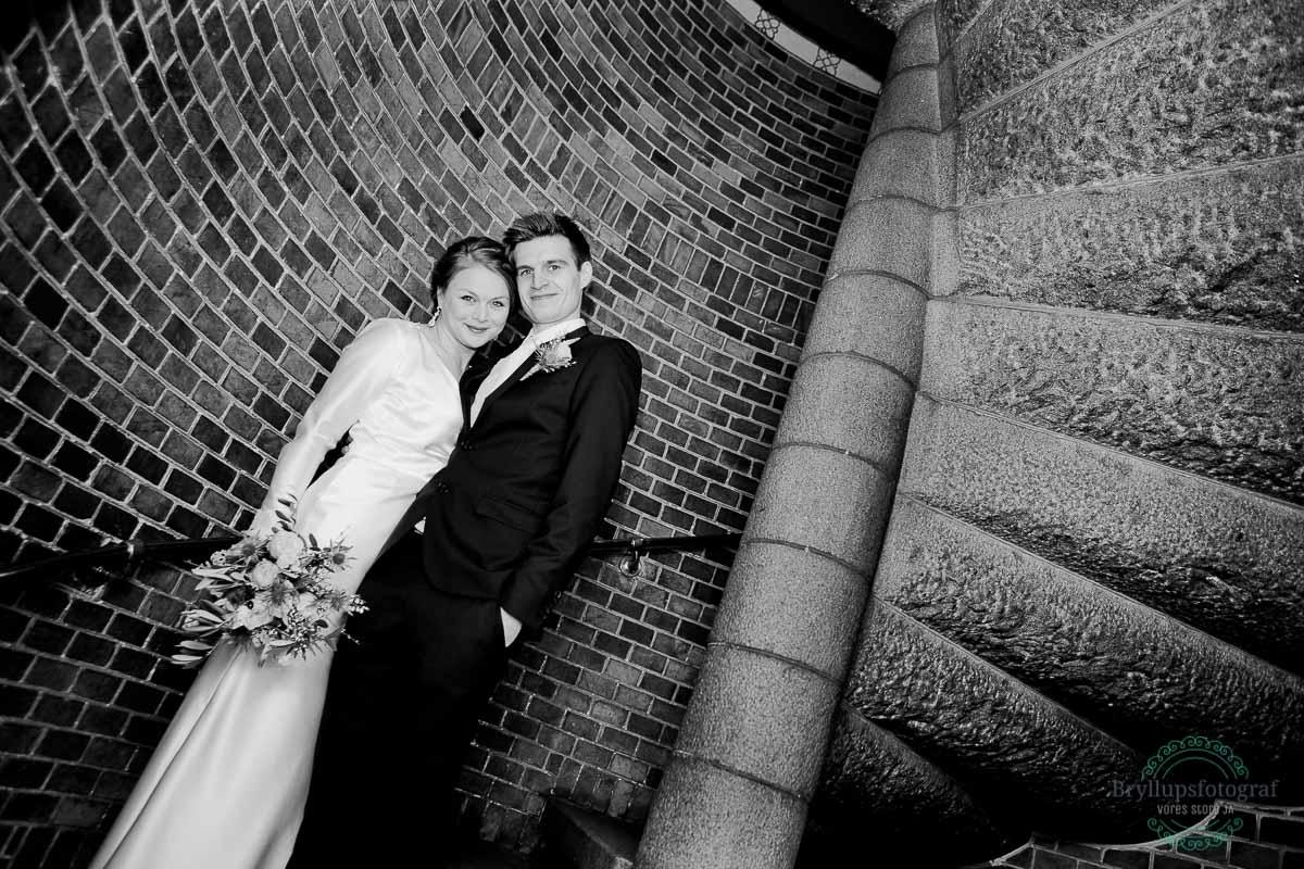 bryllup portræt brudepar københavns rådhus