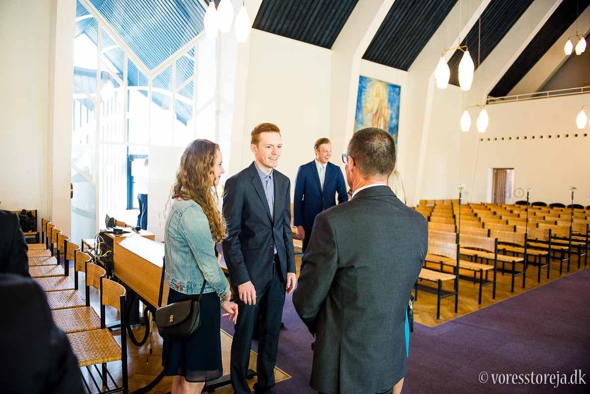 gæster bryllup Christianskirken Aarhus