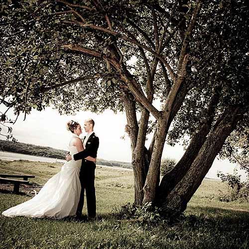 brudepar paa nimb Koebenhavn