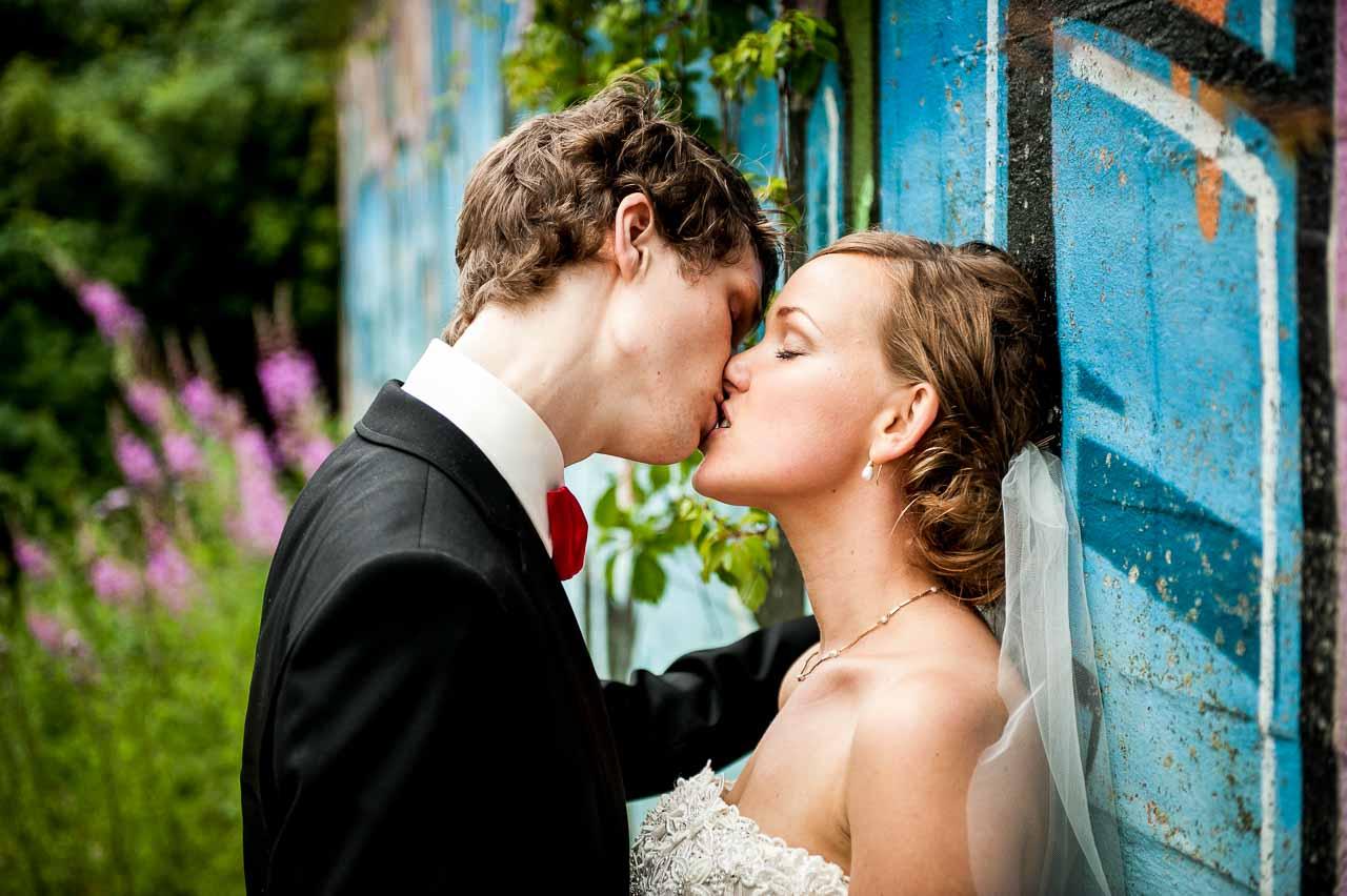 Bryllupsbilleder der huskes. Professionel bryllupsfotograf